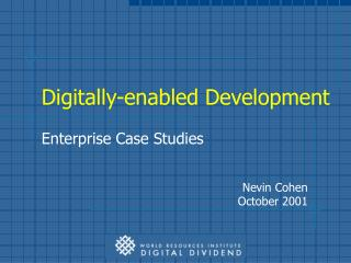 Digitally-enabled Development