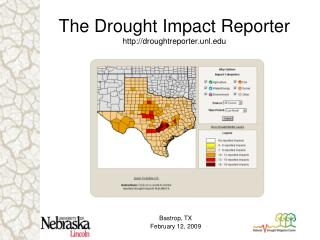 The Drought Impact Reporter droughtreporter.unl