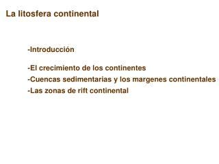 La litosfera continental