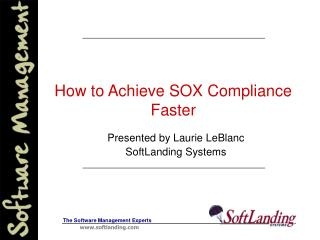 How to Achieve SOX Compliance Faster