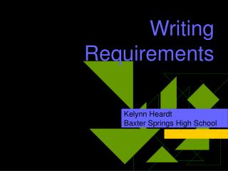 Writing Requirements