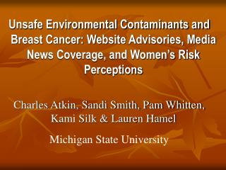 Environmental Safety Info on 157 BC Websites
