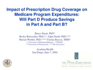 essays on medicare part d Read this social issues essay and over 88,000 other research documents medicare medicare is a health insurance program created by the united states government.