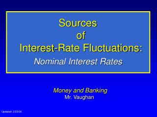 Sources  of  Interest-Rate Fluctuations: Nominal Interest Rates