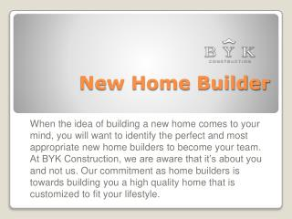 New Home Builder