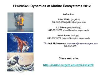 11:628:320 Dynamics of Marine Ecosystems 2012