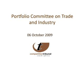 Portfolio Committee on Trade and Industry