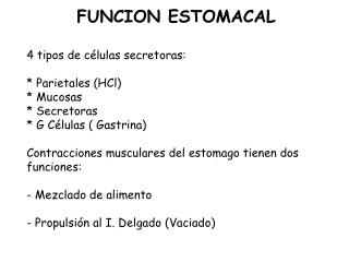 FUNCION ESTOMACAL