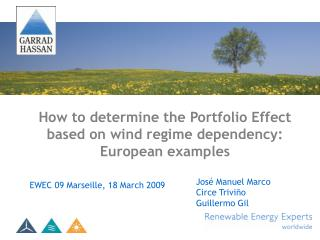 How to determine the Portfolio Effect based on wind regime dependency: European examples