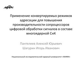 Пантелеев  Алексей  Юрьевич Шагурин Игорь Иванович