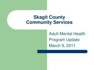 Skagit County  Community Services