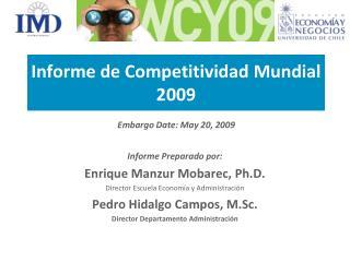Informe de Competitividad Mundial 2009
