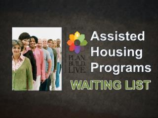 Assisted Housing Programs