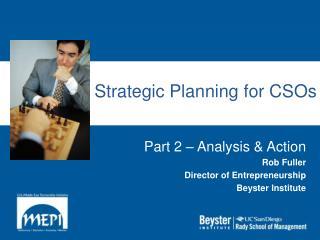 Strategic Planning for CSOs