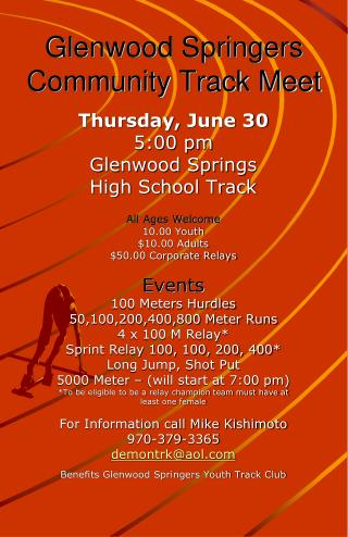 Glenwood Springers Community Track Meet