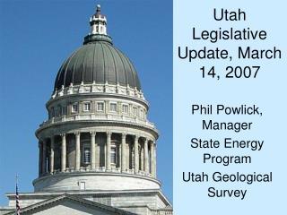 Utah Legislative Update, March 14, 2007