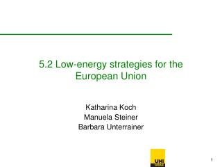5.2 Low-energy strategies for the European Union