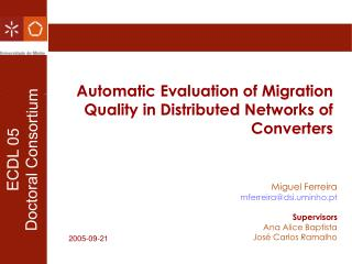 Automatic Evaluation of Migration Quality in Distributed Networks of Converters