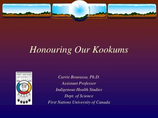 Honouring Our Kookums