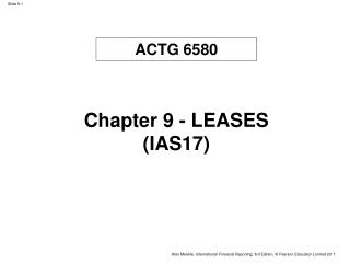 Chapter 9 - LEASES (IAS17)