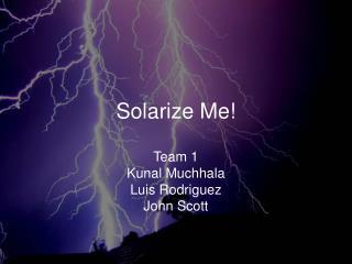 Solarize Me!