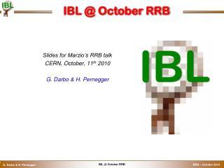 IBL @ October RRB
