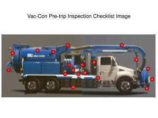 Vac-Con Pre-trip Inspection Checklist Image