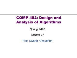 Prof. Swarat  Chaudhuri