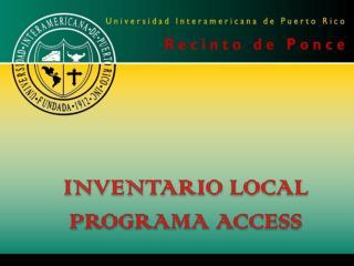 INVENTARIO LOCAL PROGRAMA ACCESS