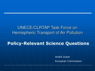 UNECE/CLRTAP Task Force on Hemispheric Transport of Air Pollution