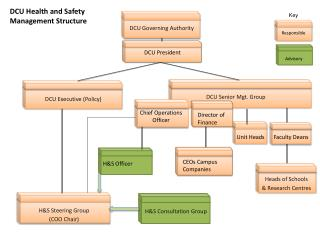 DCU Health and Safety Management Structure