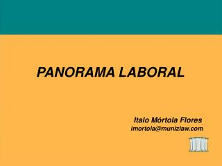 PANORAMA LABORAL