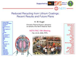 Reduced Recycling from Lithium Coatings: Recent Results and Future Plans