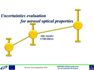 Uncertainties evaluation for aerosol optical properties Aldo  Amodeo CNR-IMAA