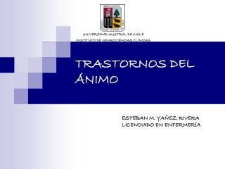 TRASTORNOS DEL ÁNIMO