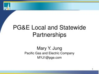 PGE Local and Statewide Partnerships
