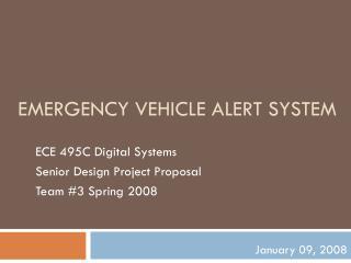 Emergency Vehicle Alert System