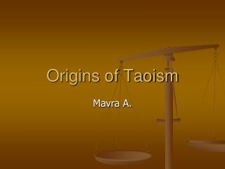 Origins of Taoism