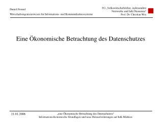Daniel Freund  Wirtschaftsingenieurswesen für Informations- und Kommunikatinossysteme