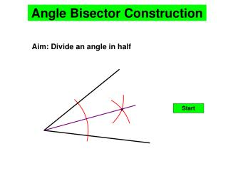 Angle Bisector Construction
