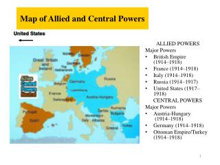 Map of Allied and Central Powers