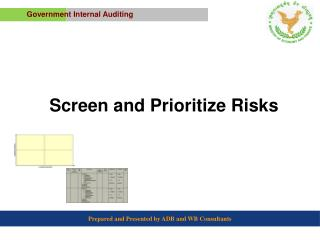 Screen and Prioritize Risks