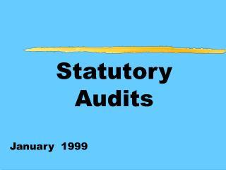 Statutory Audits