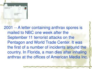 What is anthrax?