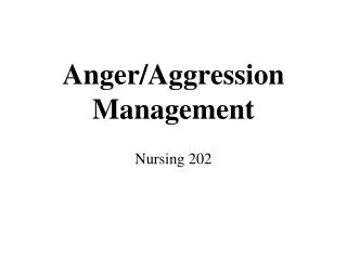 Anger/Aggression Management