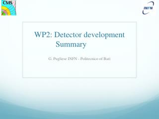 WP2: Detector development  Summary
