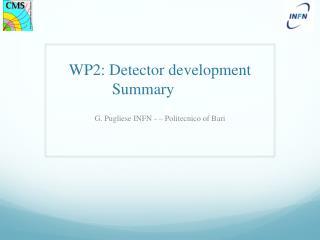 WP2: Detector development  Summary