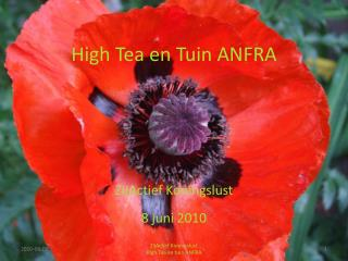 High Tea en Tuin ANFRA