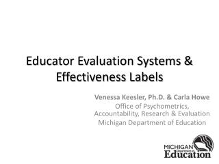 Educator Evaluation Systems & Effectiveness Labels