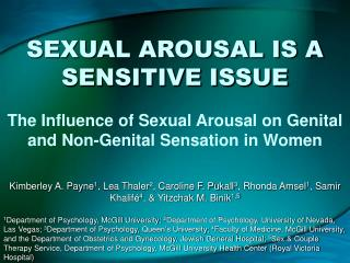 SEXUAL AROUSAL IS A SENSITIVE ISSUE